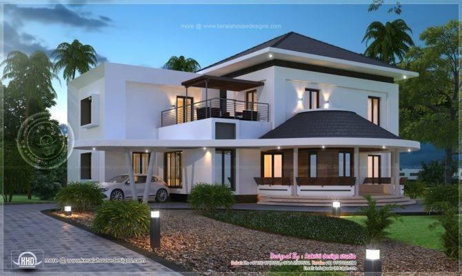 Modern Villa Exterior Kerala Home Design Floor Plans