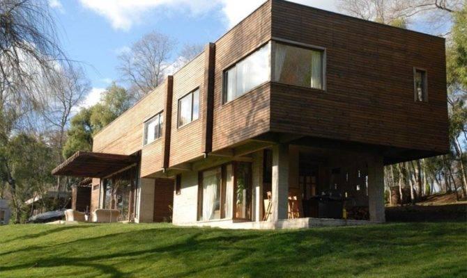 Modern Wood House Desgin Cube Shaped Olpos Design