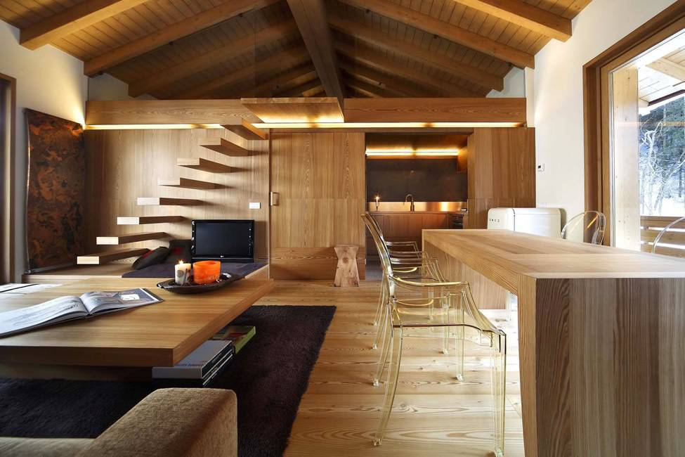 Modern Wood House Interior Design Gianluca Fanetti