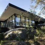 Modern Wooden Vacation House Built Rocks