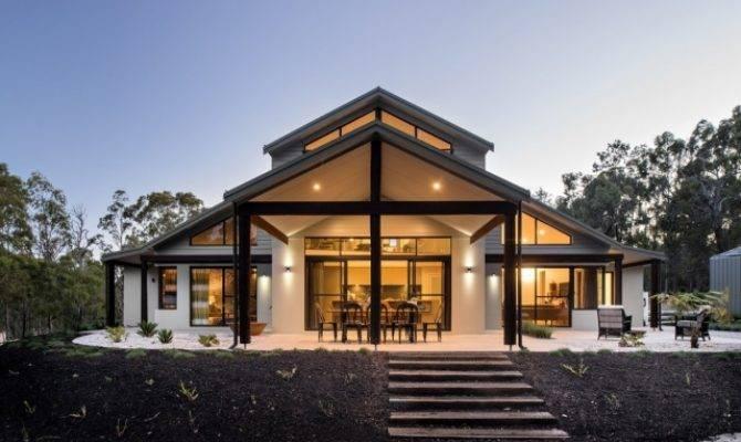 Modernes Haus Mit Satteldach Der Westk Ste Australiens