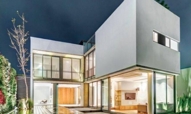 Modernes Wohnhaus Form Innen Verschmelzen