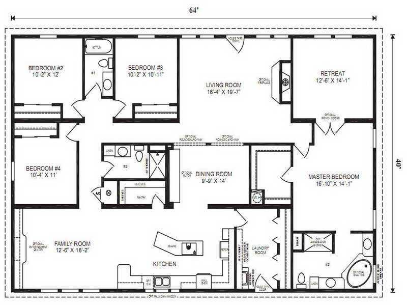Modular Home Floor Plans Master Bedroom