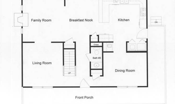 Modular Open Floor Plan Large Country Kitchen Living Space