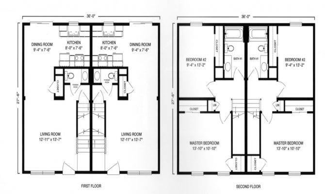 Modular Ranch Duplex Garage Plan Two