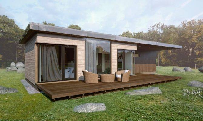 Modular Wooden Houses Glass Wood Design Production