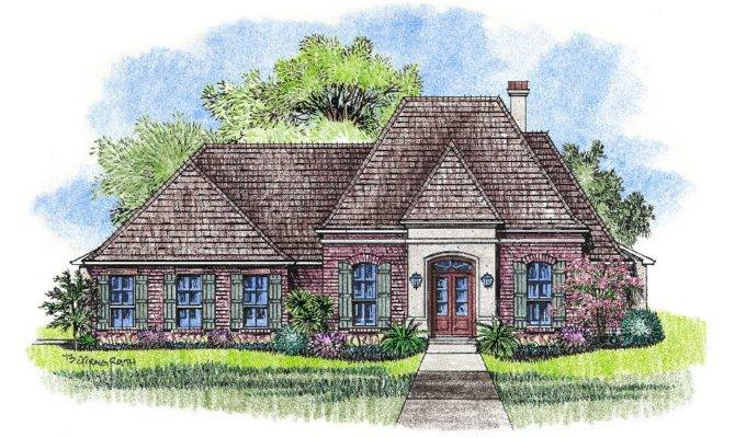 Monroe Country French Home Plans Louisiana House