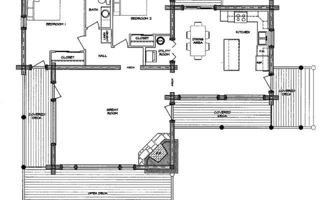 Monte Vista Log Home Floor Plan Main