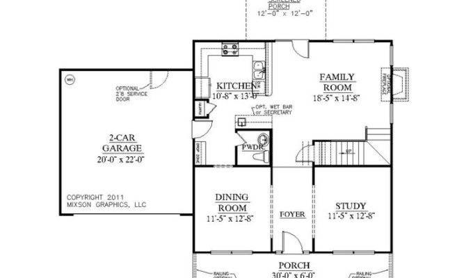 More One Story House Plans Bonus Room Car