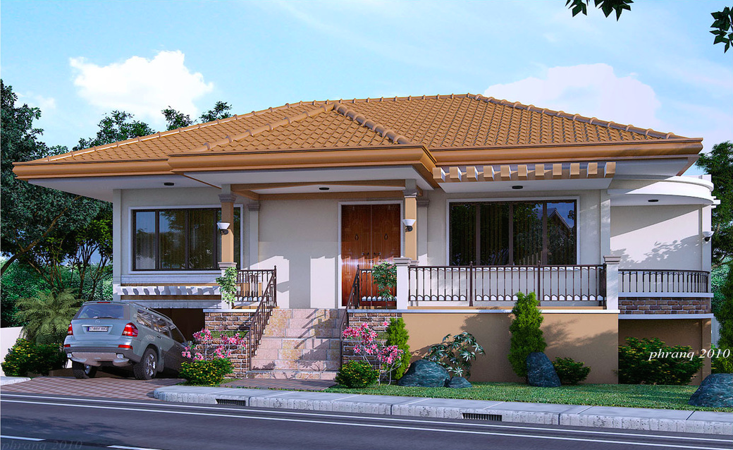 Most Plain Stunning Single Storey Design Home