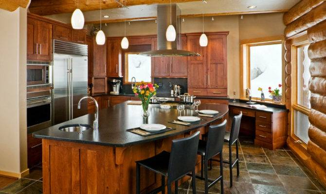 Mountain Contemporary Home Rustic Kitchen Other