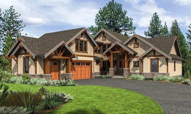 Mountain Craftsman House Plan Upstairs Bedrooms