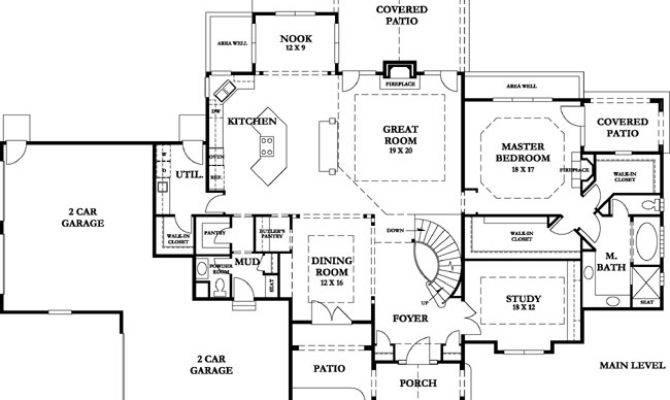 Mountain Estate Main Level Floorplan