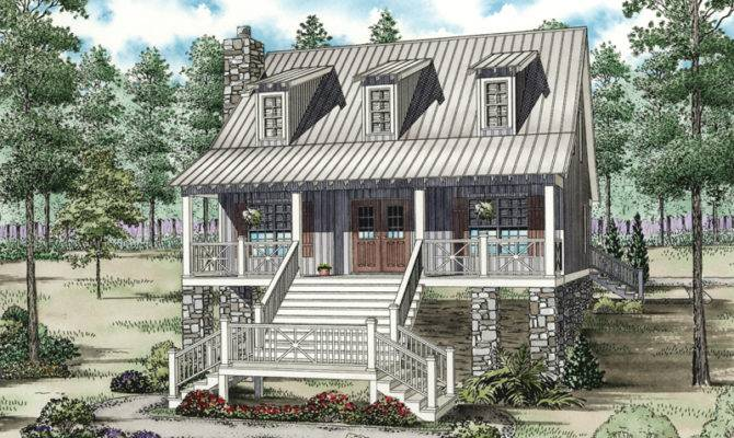 Mountain Home Plan Front House Plans More