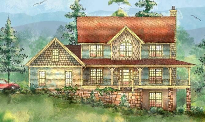Mountain Home Wrap Around Porch