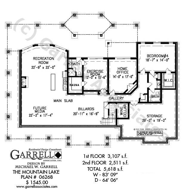 Mountain Lake House Plan Plans Garrell