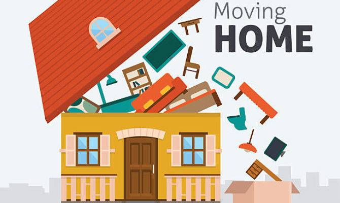 Moving House Clip Art Vector