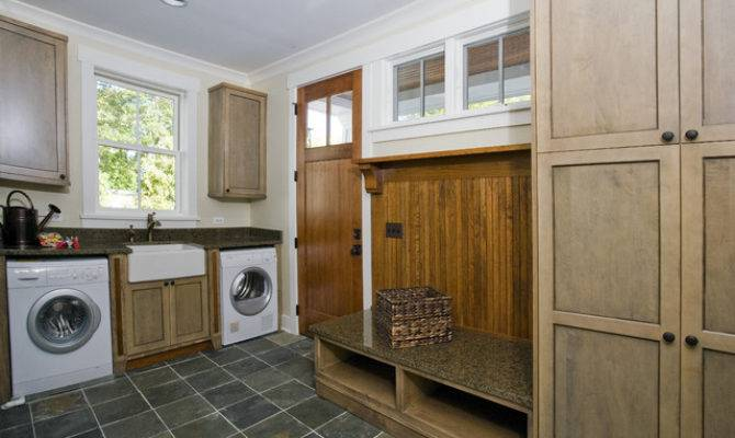 Mudroom Secondary Laundry Craftsman Room