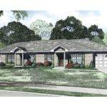 Multi House Plans Ranch Duplex Plan