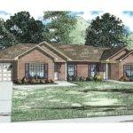 Multi House Plans Story Duplex Home Plan