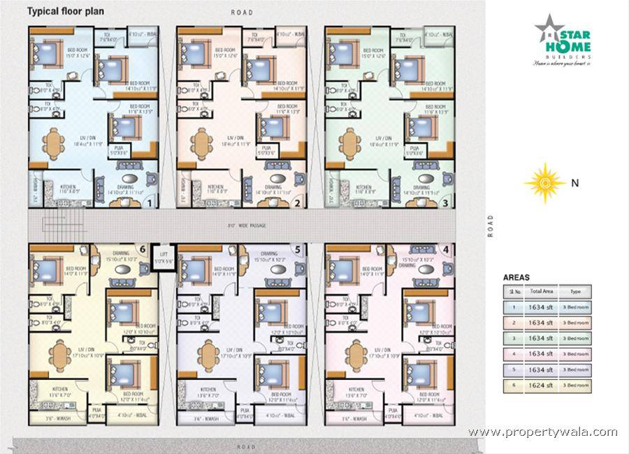 Multi House Plans Unit Home Floor