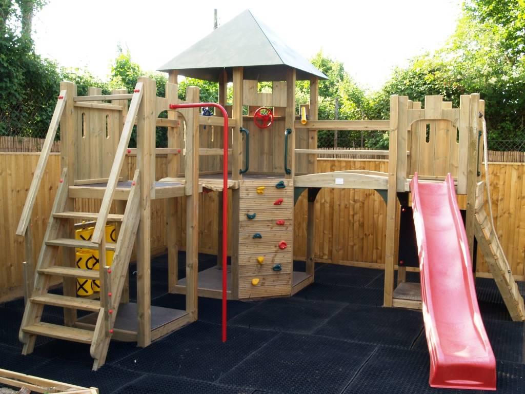 Multi Tower Castle Climbing Frame Playways Playhouses