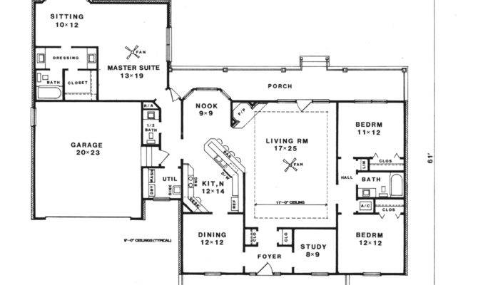 Nadine Farm Country Ranch Home Plan House