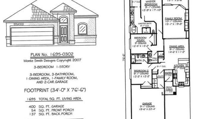 Narrow Home Plans Garage Homes Floor