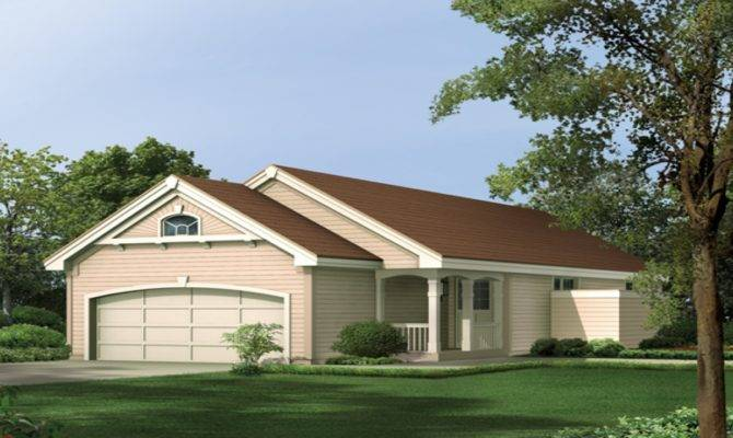 Narrow House Plans Front Garage Houses Floor