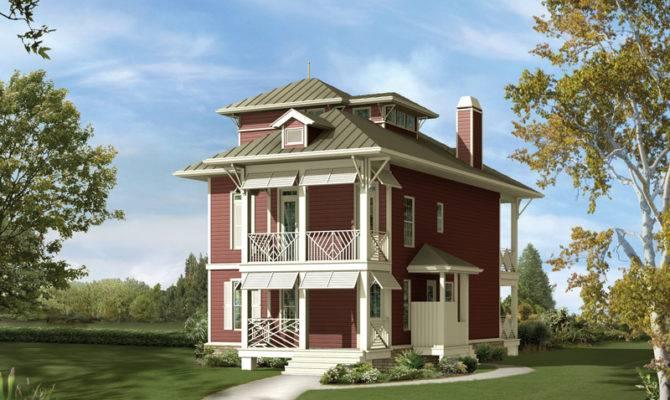 Narrow Lot Beach House Plans