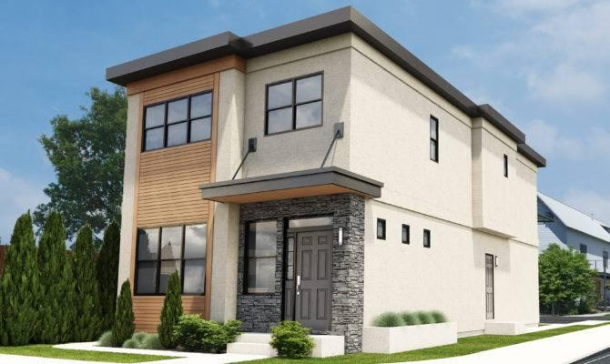 Narrow Lot Contemporary Duplex Blog House Plan Hunters