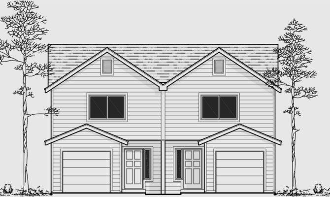 Narrow Lot Duplex Home Plans Design Style