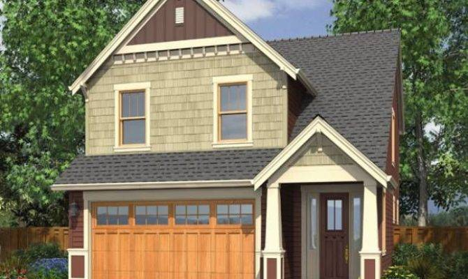Narrow Lot Home Plans Front Garage