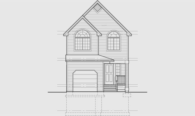 Narrow Lot House Plan Small Wide