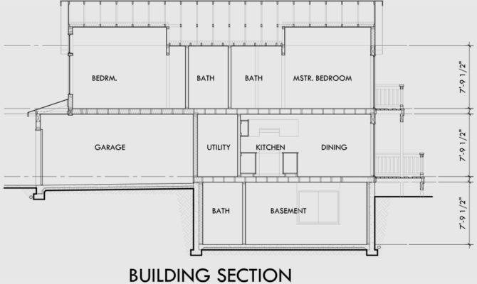 Narrow Lot House Plans Basement