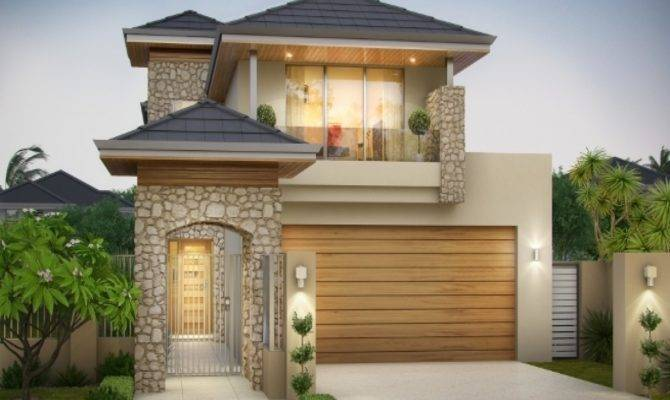 Narrow Lot House Plans Front Garage Escortsea