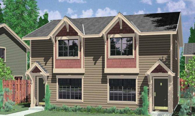 Narrow Lot House Plans Front Garage Home