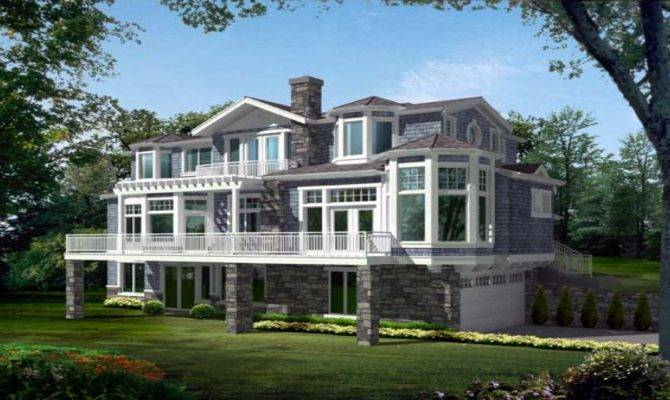 Narrow Lot House Plans Lakefront