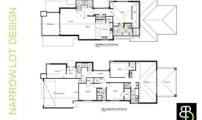 Narrow Lot Luxury House Plans Smalltowndjs