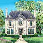 Narrow Luxury Brick Home House Plans Finest French Style