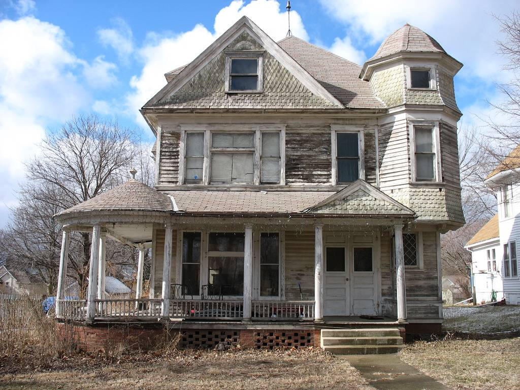 Neglected Victorian Style House Badly