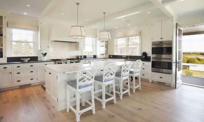 Neutral Beach House Kitchen Wide Plank Floors