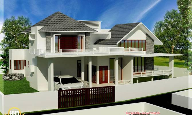 New Contemporary Mix Modern Home Designs Kerala