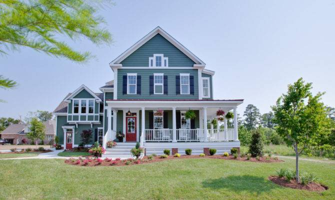 New Country Style House Plans Wrap Around Porches