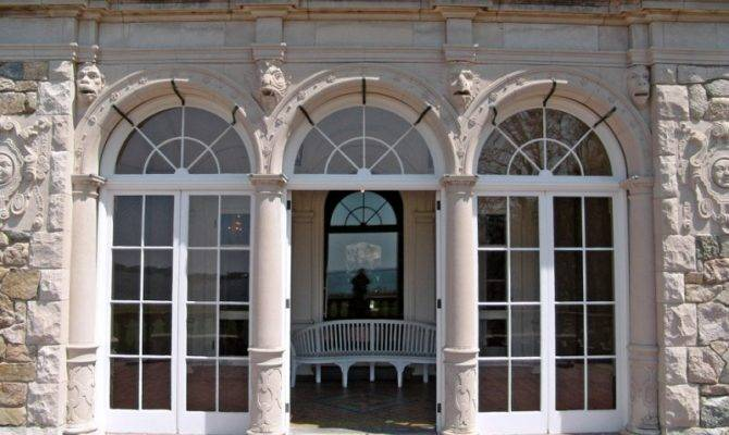 New England Blithewold Mansion Gardens Triple French Doors
