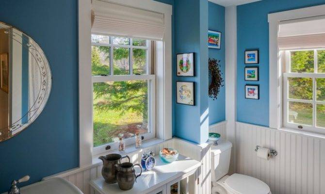 New England Cape Renovation Beach Style Bathroom