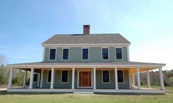 New England Farmhouse Wrap Around Porch Plans Pics Metal