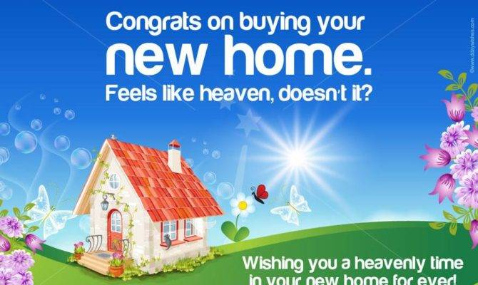 New Home Congratulations Cards Wishes House Plans