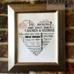 New Home Print Gift Housewarming Personalised Unframed