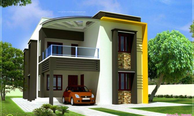 New Modern Contemporary Home Elevations Kerala